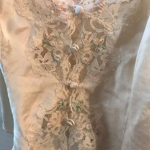 Victoria's Secret Tops - Victoria's Secret silk lace crop top PJ
